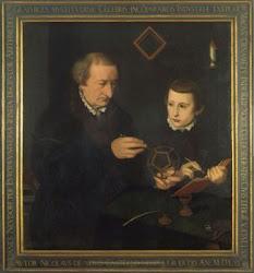 La lección de Geometría del maestro Johann Neudörffer.1561.Nicolas Neufchâtel.