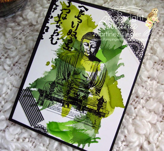 last Zen card 50 shades of green alcohol inks
