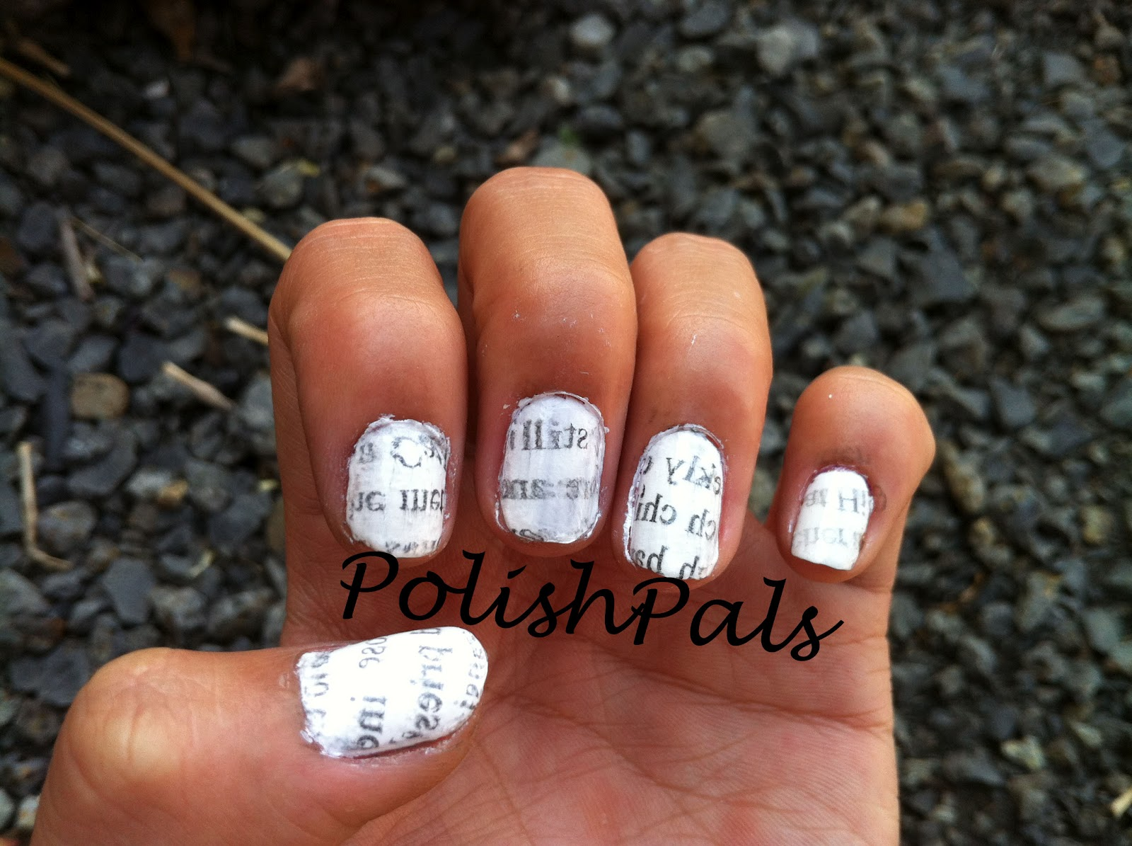 Polish Pals: Newspaper Nail Tutorial