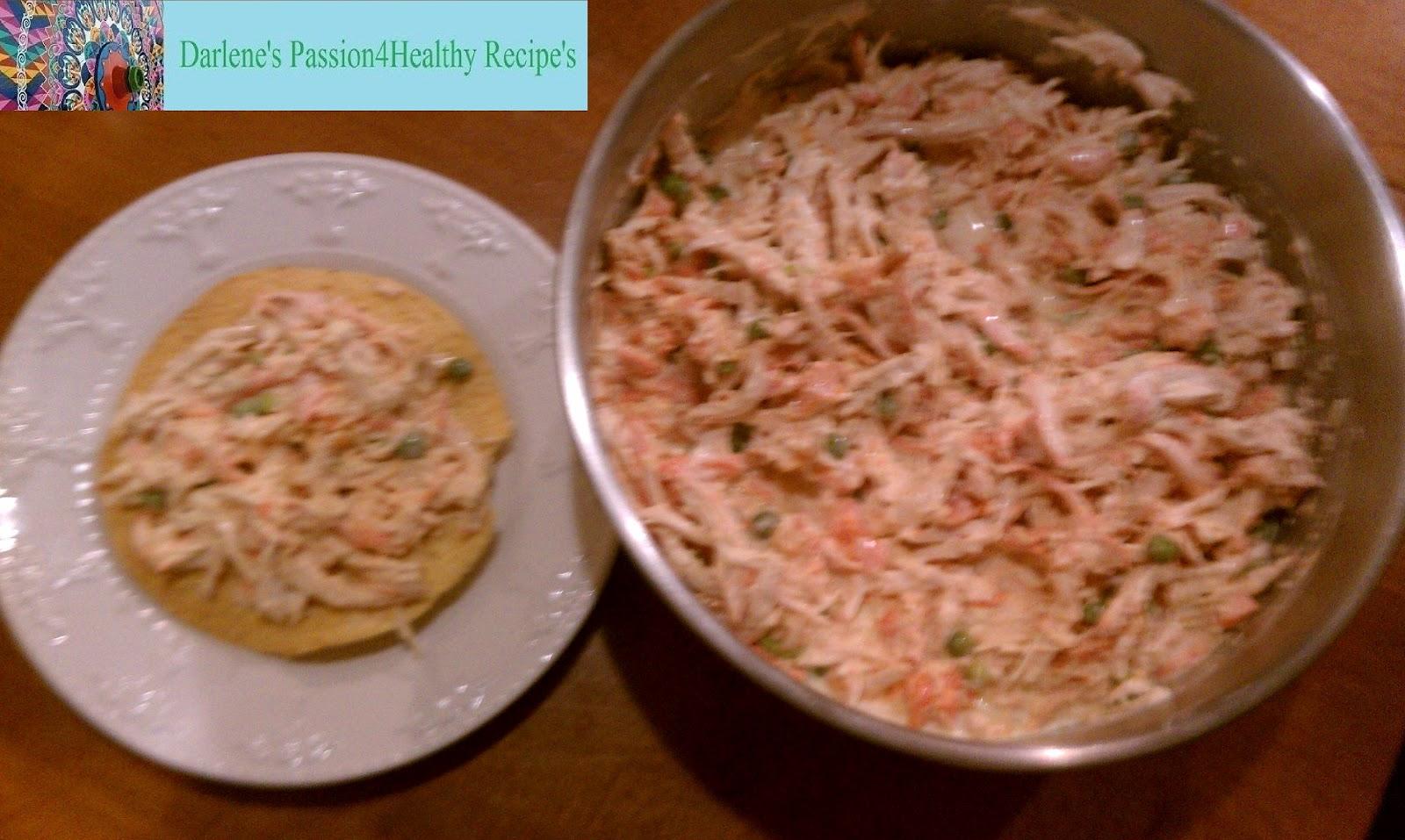 Darlene's Passion4Healthy Recipes: Chicken Salad Tostada