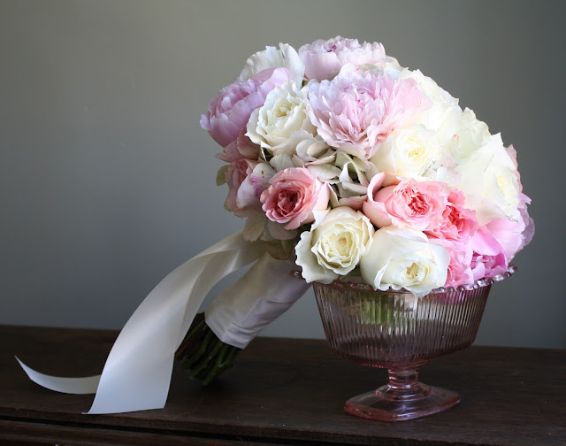 Pink and White Wedding Bouquet  - Canfield Casino - Splendid Stems