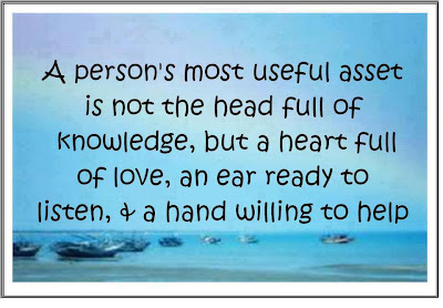 A person's most useful asset is not the head full of knowledge,