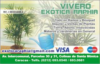 VIVERO EX�TICA RAPHIA en Paginas Amarillas tu guia Comercial