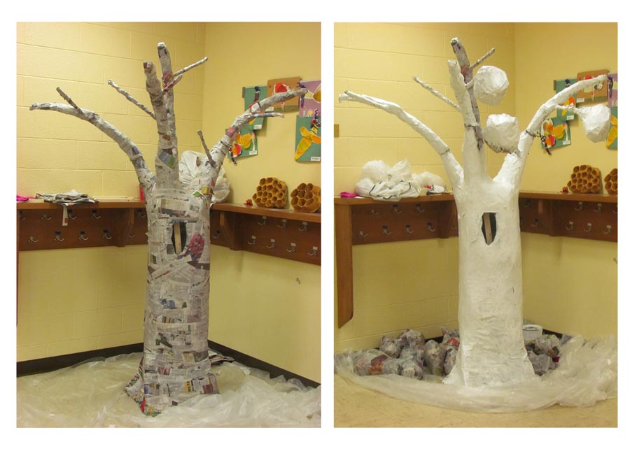 How to make a large paper mache tree cosmic butterfly design december