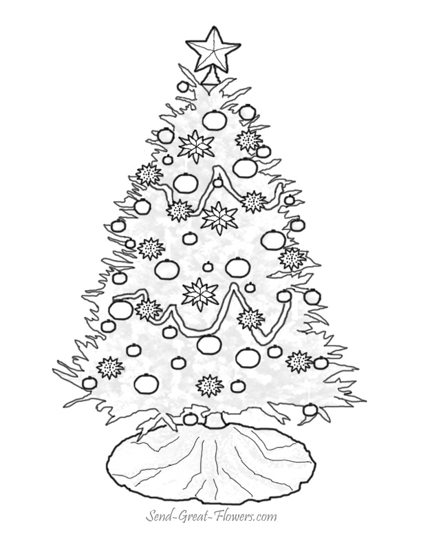Christmas Trees and Bells Coloring