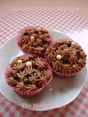 Cupcakes de galletas Principe