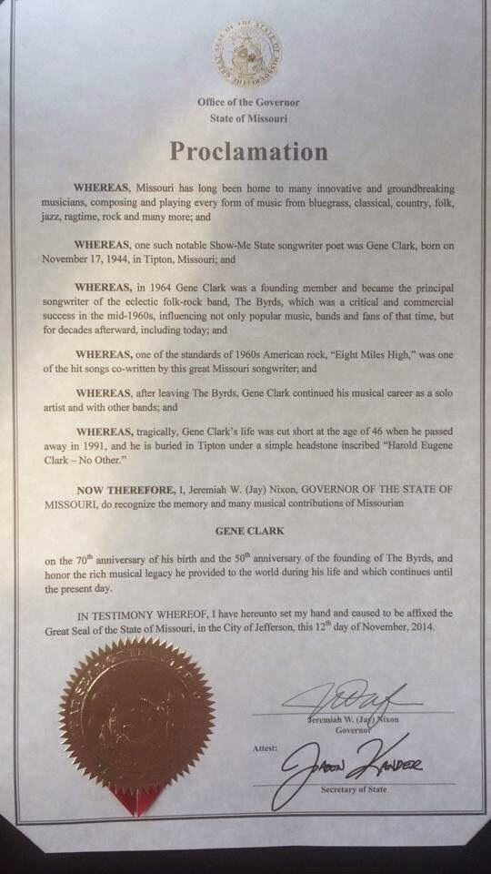 Proclamation of the Governor of Missouri