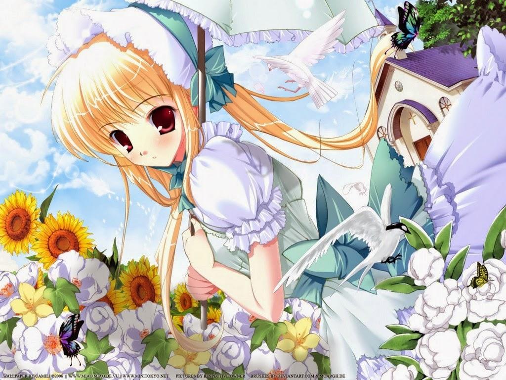 hình nền anime girl cho máy tính
