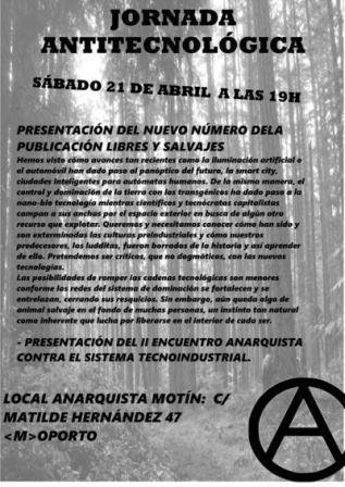 JORNADA ANTITECNOLÓGICA 21 DE ABRIL