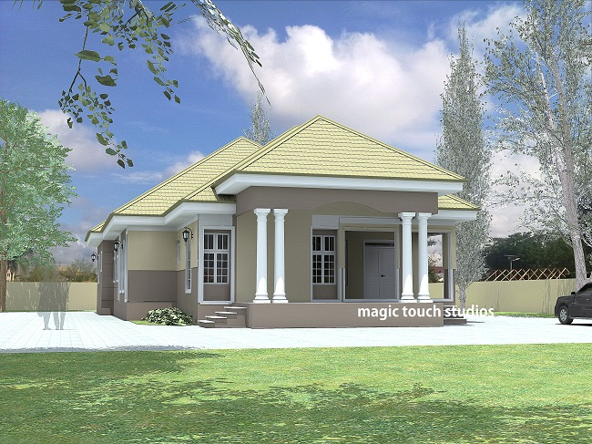 4 bedroom bungalow residential homes and public designs for 5 bedroom bungalow designs