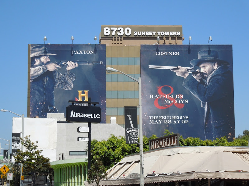Giant Hatfields McCoys History billboards
