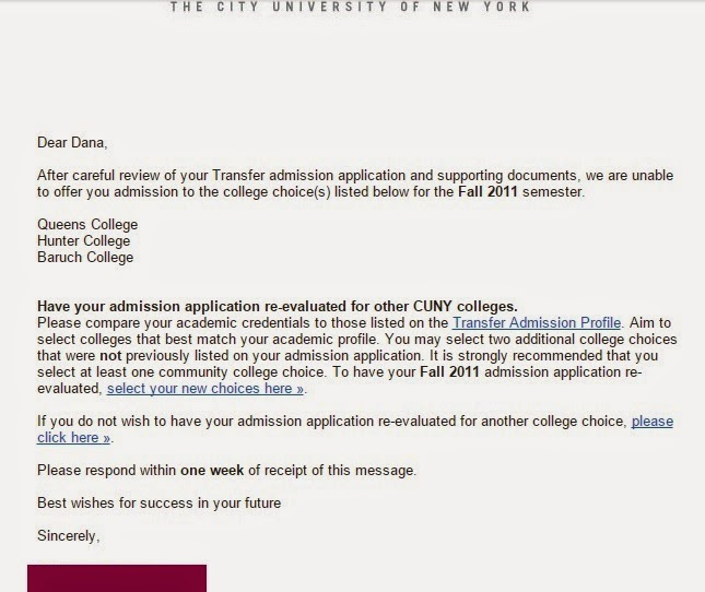 college rejection letter template - dana 39 s thoughts and musings job hunting and rejection letters