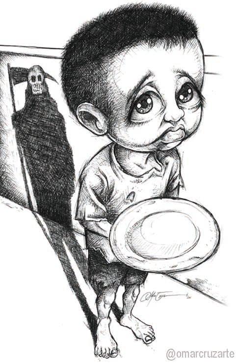 Asechado por el hambre