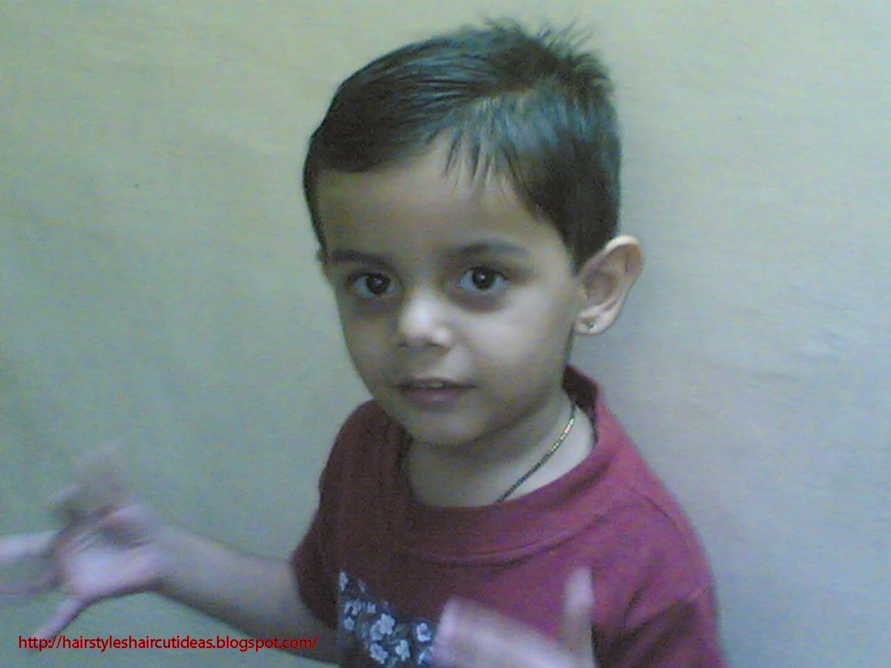 Modern Haircuts 2012 Side Part Hairstyle For Boys Indian Kid