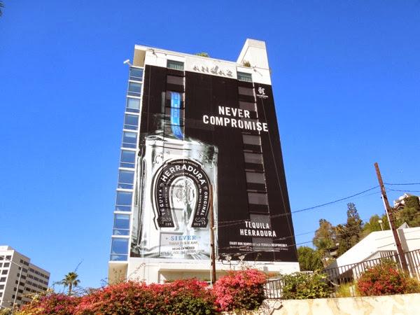 Giant Herradura Tequila Never Compromise billboard