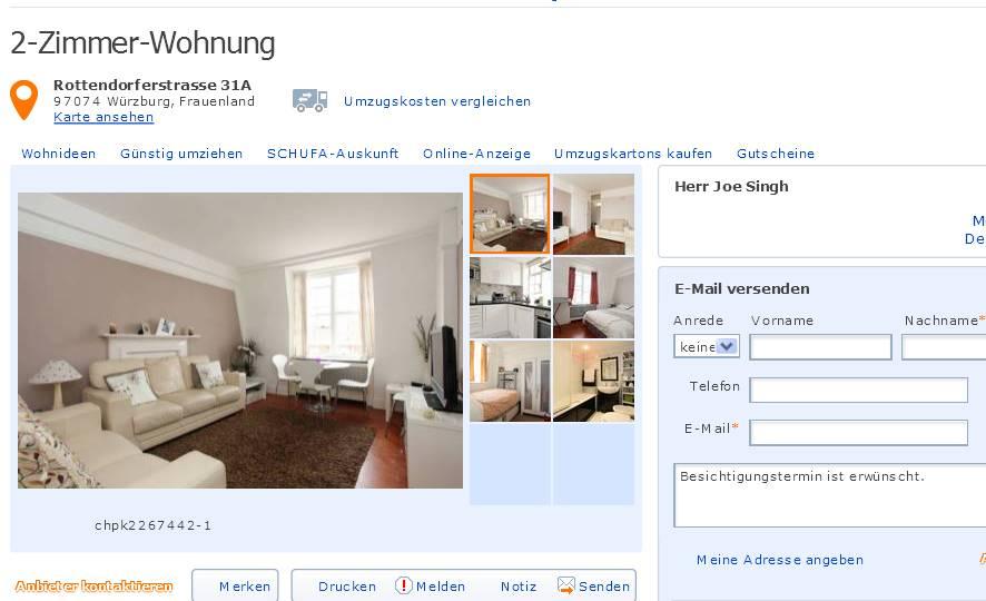 19.06.2013 2 Zimmer Wohnung Rottendorferstrasse 31A 97074 Würzburg,  Frauenland 70146082 Http://www.immobilienscout24.de/expose/7014608  Chpk2267442 1