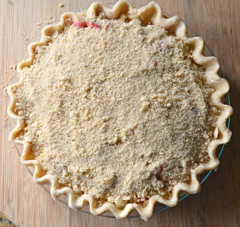 Strawberry Rhubarb Pie With Crumb Topping | Serena Bakes Simply From ...