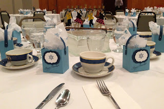 Hanukkah party favor on table