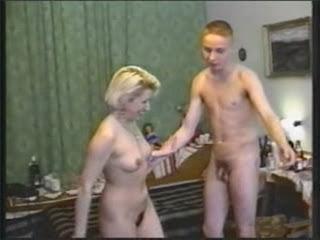 Blonde handjob tube