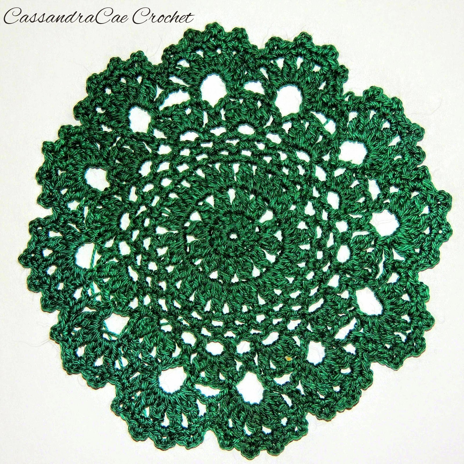 Doily, Crochet, Free Crochet Pattern, green, home decor,