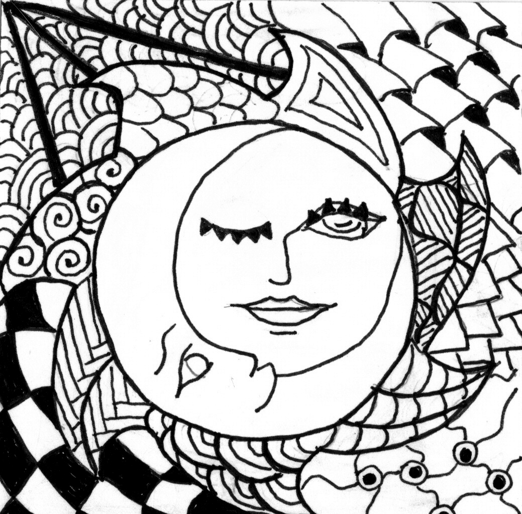 Free half sun coloring pages