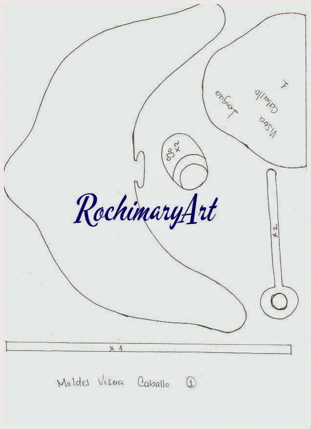 rochimary arte en goma eva  moldes