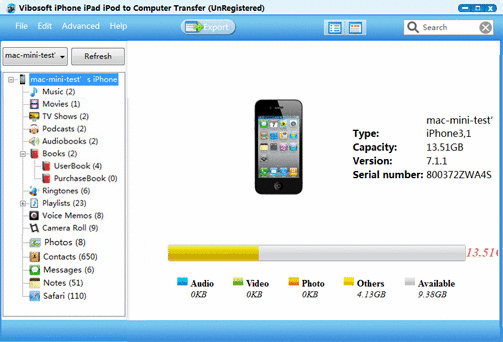 Vibosoft iPhone to Computer Transfer—Transfer Data from iPhone/iPad/iPod to Computer