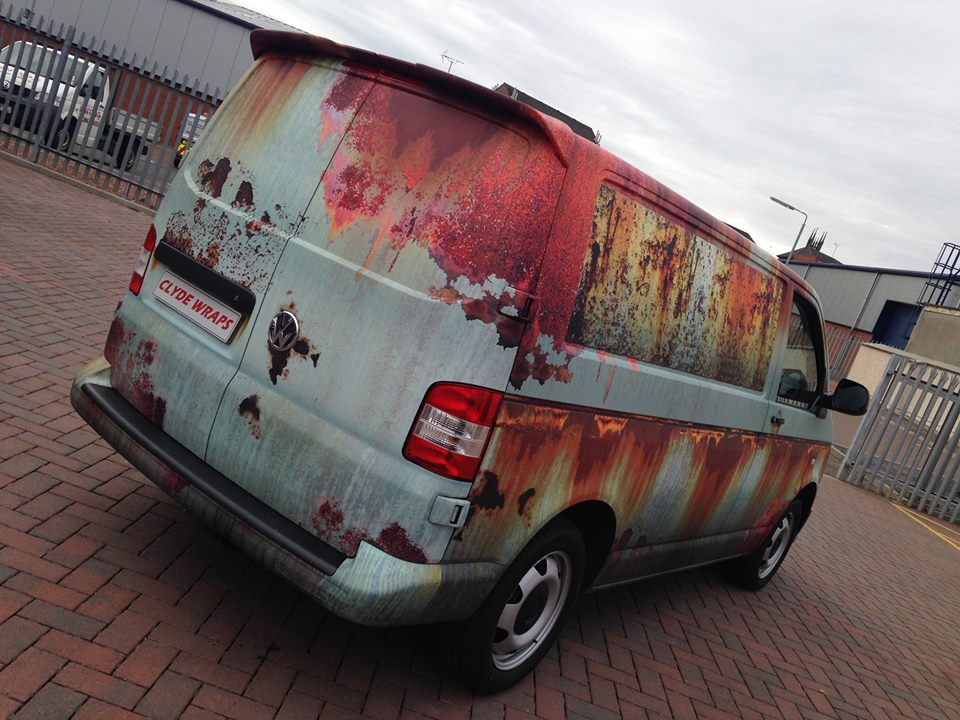 07-Clyde Wraps-Car-Vinyl-Wrap-with-the-Rust-Treatment-www-designstack-co