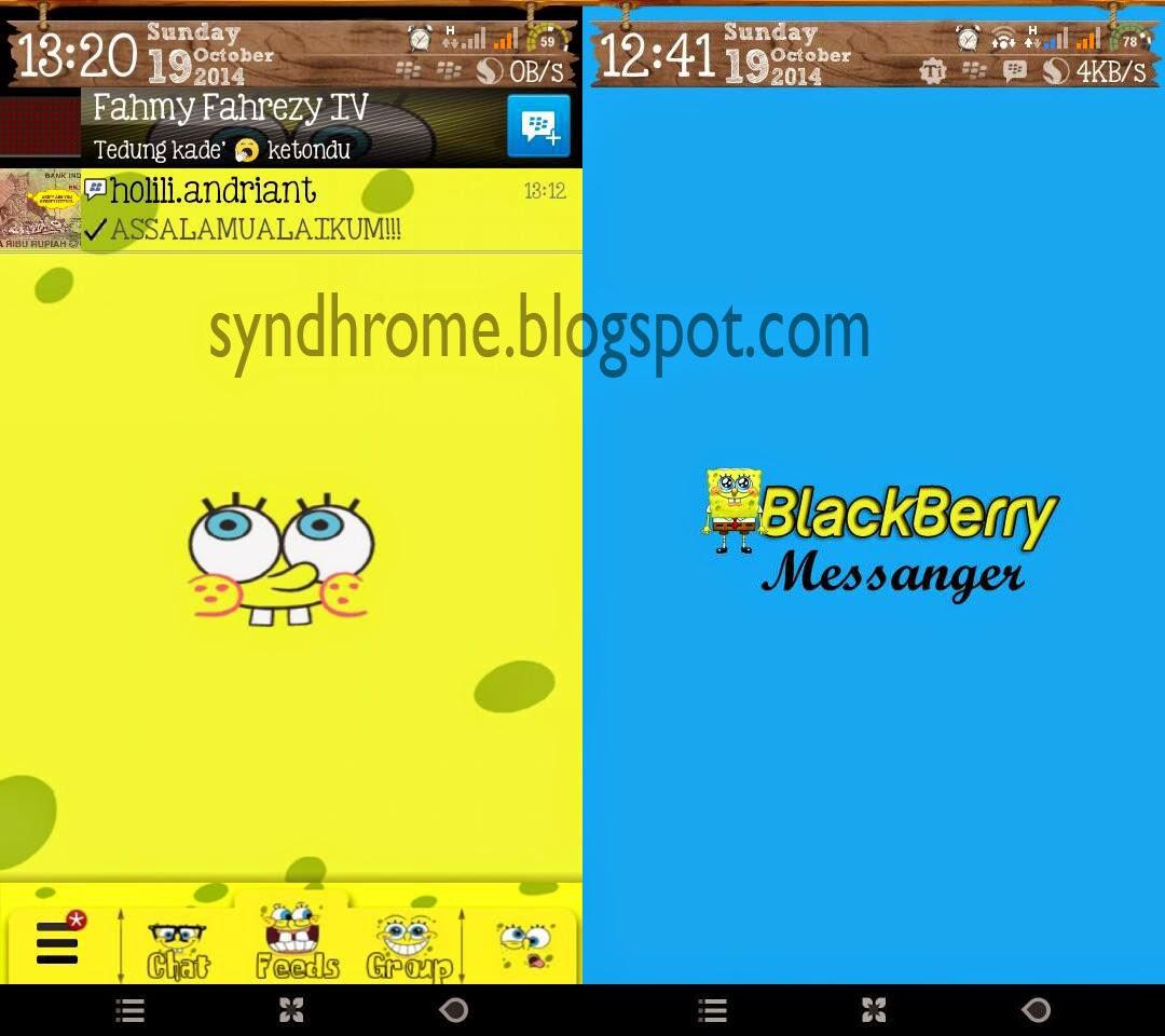 BBM Modifikasi versi Spongebob Squarepants | Menggemaskan!