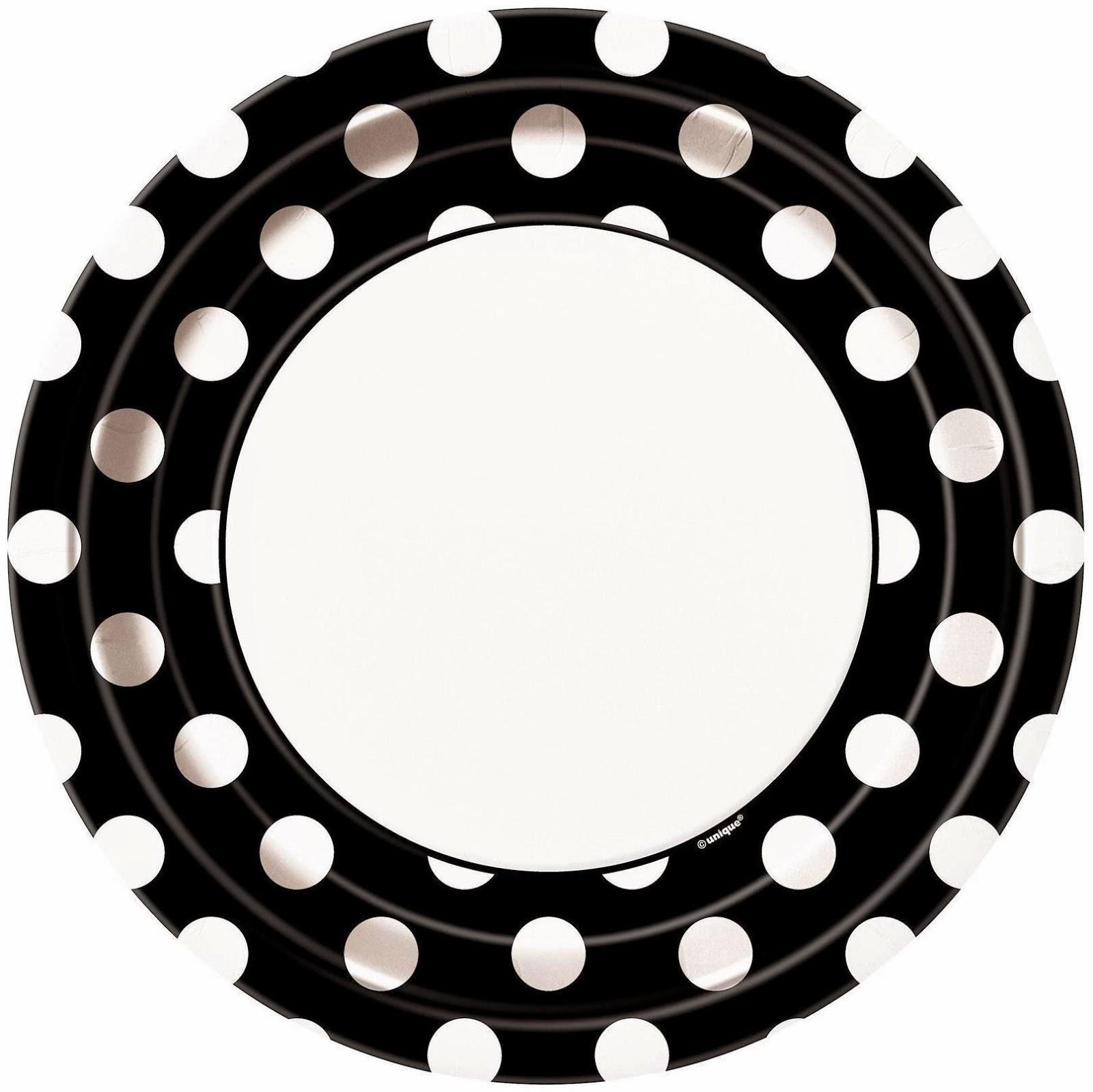 black-white-dote-plate