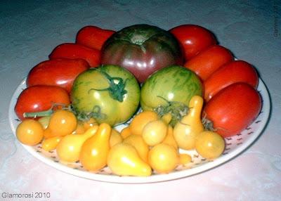 A sampling of heirloom tomatoes from the Glamorosi garden in Philadelphia