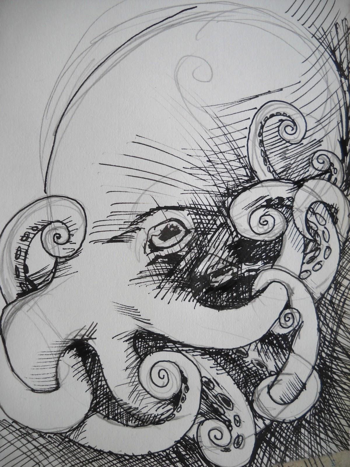 Jackalope Head Drawing Jackalope Head Drawing