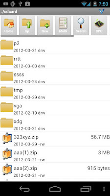 Androzip file manager para Android, comprimir y descomprimir archivos