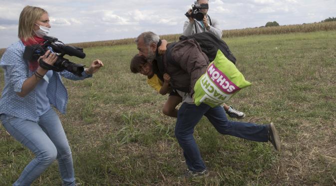 Kamerawati Yang Menendang Pengungsi Suriah Dipecat