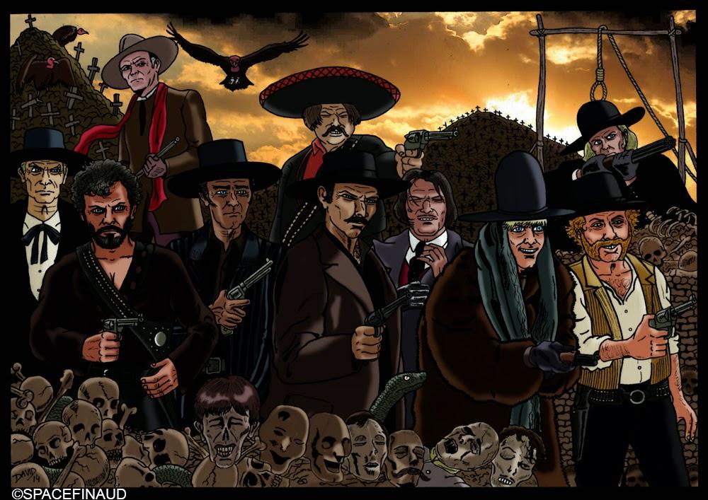 LES VILAINS DE L'OUEST, EDUARDO FAJARDO, FERNANDO SANCHO, JOSE TERRON, GIAN MARIA VOLONTE, HENRY FONDA, GORDON MITCHELL, LEE VAN CLEEF, KLAUS KINSKI, JACK PALANCE, FRANK WOLFF, WILLIAM BERGER