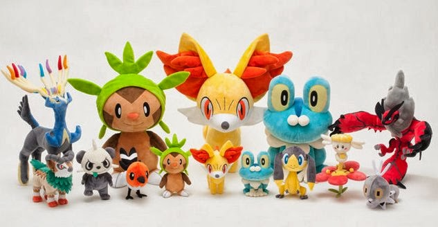 Pokemon XY Plush PokeCenJP 12 Nov release