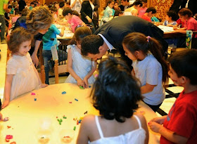 BASHAR AL-ASSAD VISIT CHILDREN ON MATRYS' DAY: