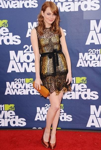emma stone dress style