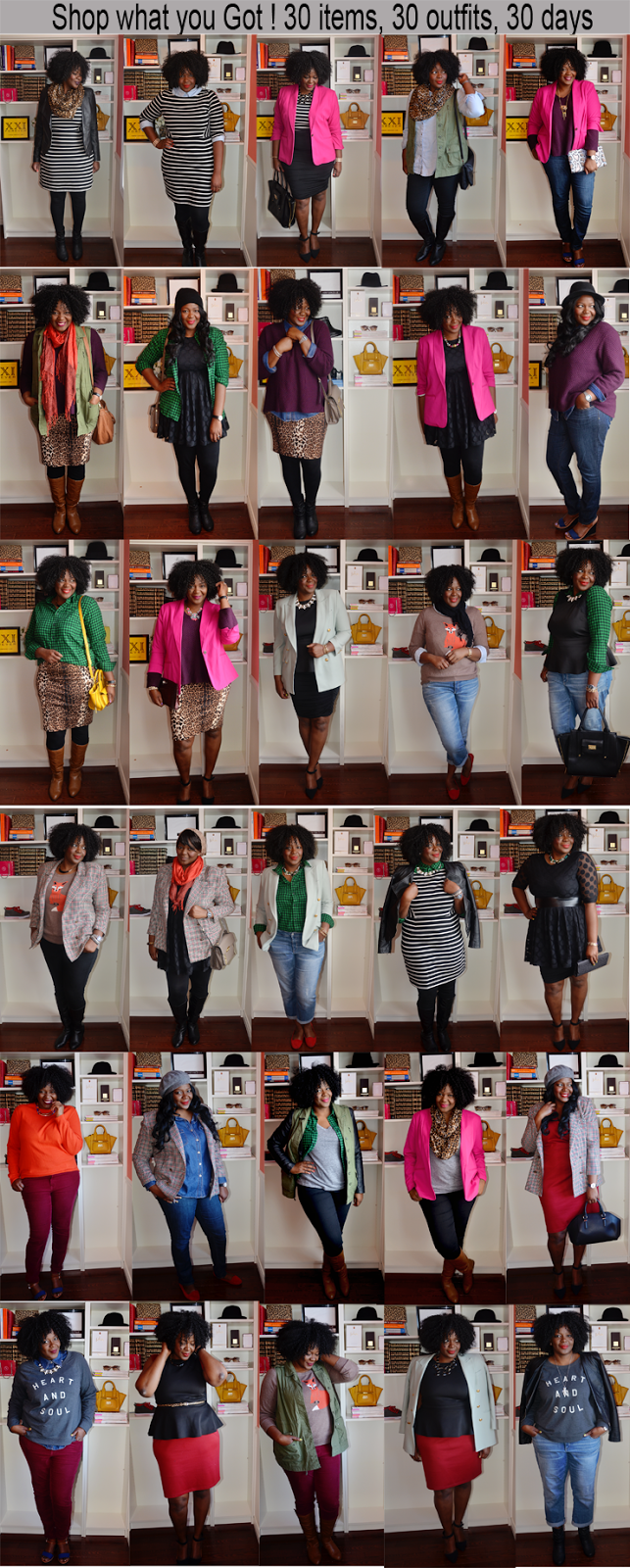 30 x 30 outfit challenge- plus size edition My Curves and curls: Plus size fashion for women Tips on how to remix your wardrobe and learn how to get the most out of your clothes.