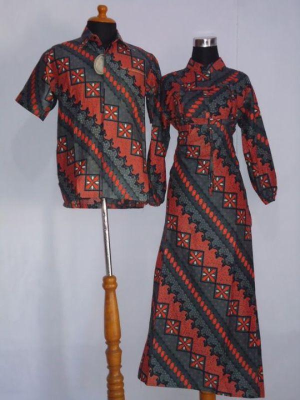 Baju Murah Lajava Batik Couple Gamis