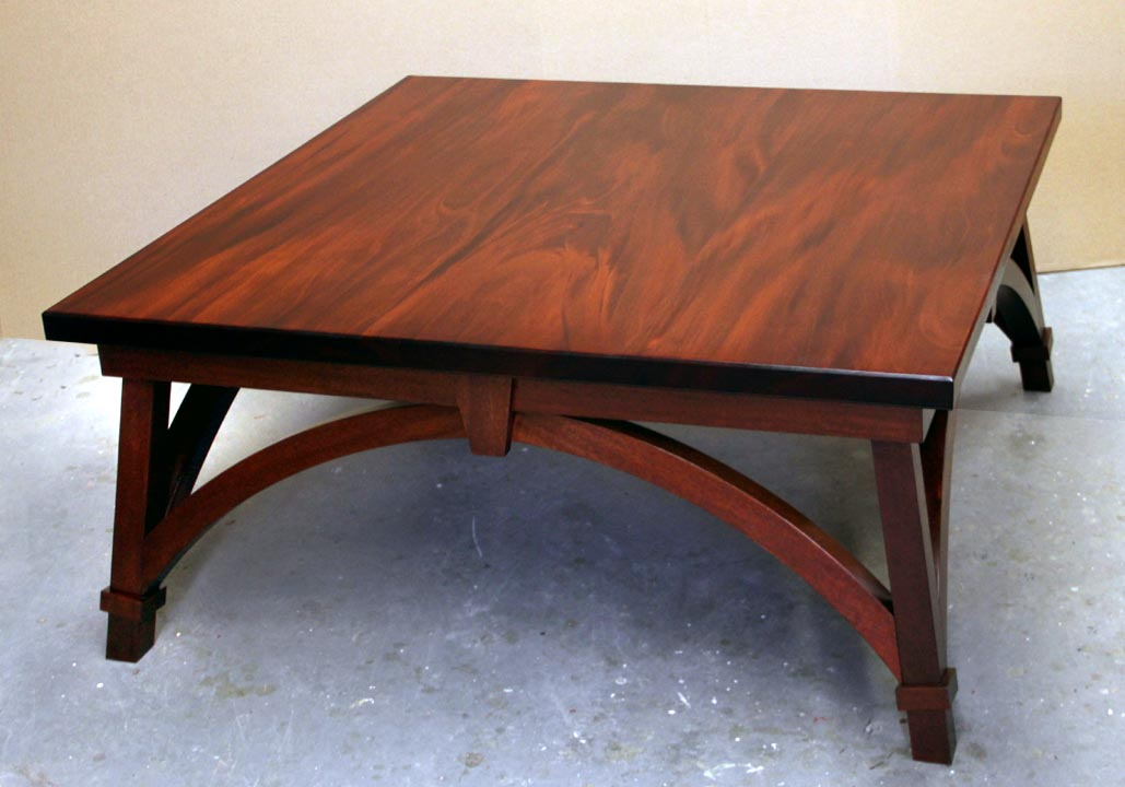 a square mahogany coffee table & Dorset Custom Furniture - A Woodworkers Photo Journal: a square ...