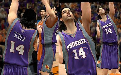 NBA 2K13 Phoenix Suns Jersey Pack Mod