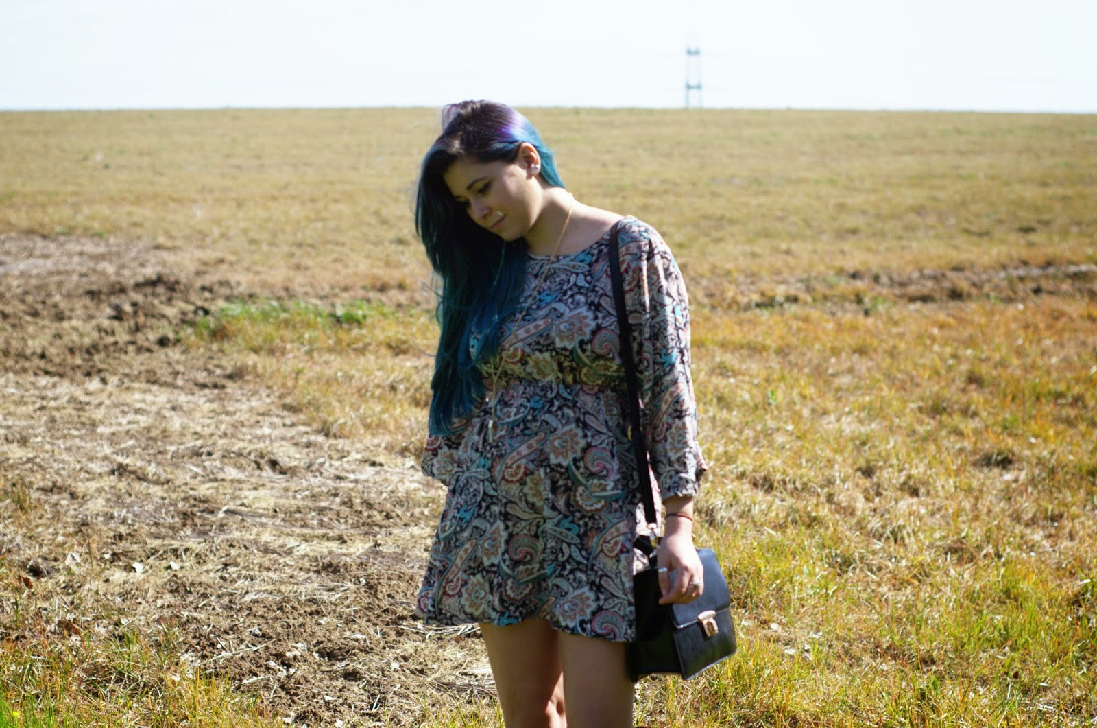 70s trend OOTD - Paisley Dress