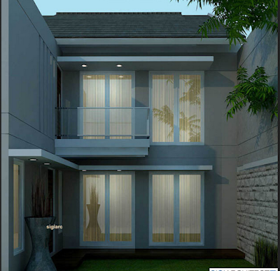 rumah minimalis samping belakang