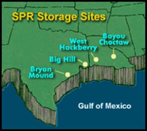 US Strategic Petroleum Reserve Whats The Trigger Release - Us strategic map