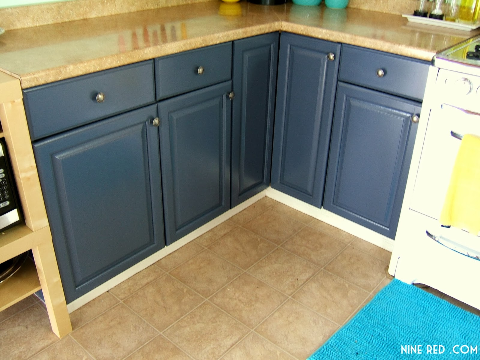 It 39 s an interesting color i love it sometimes it has a for Dark blue kitchen cabinets