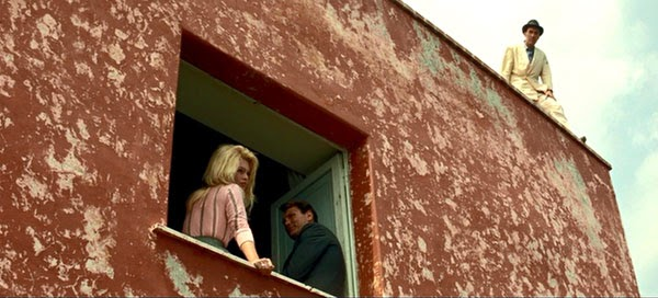 A remarkable shot from the island of Capri in Godard's Contempt.