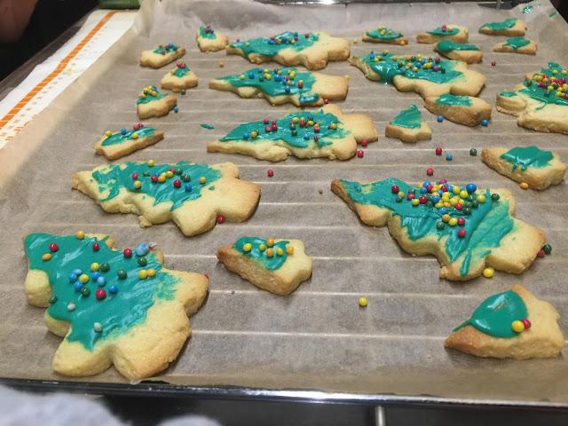 hornear galletas con niños
