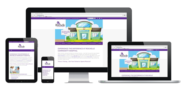 Rochelle Hospital's responsive website design