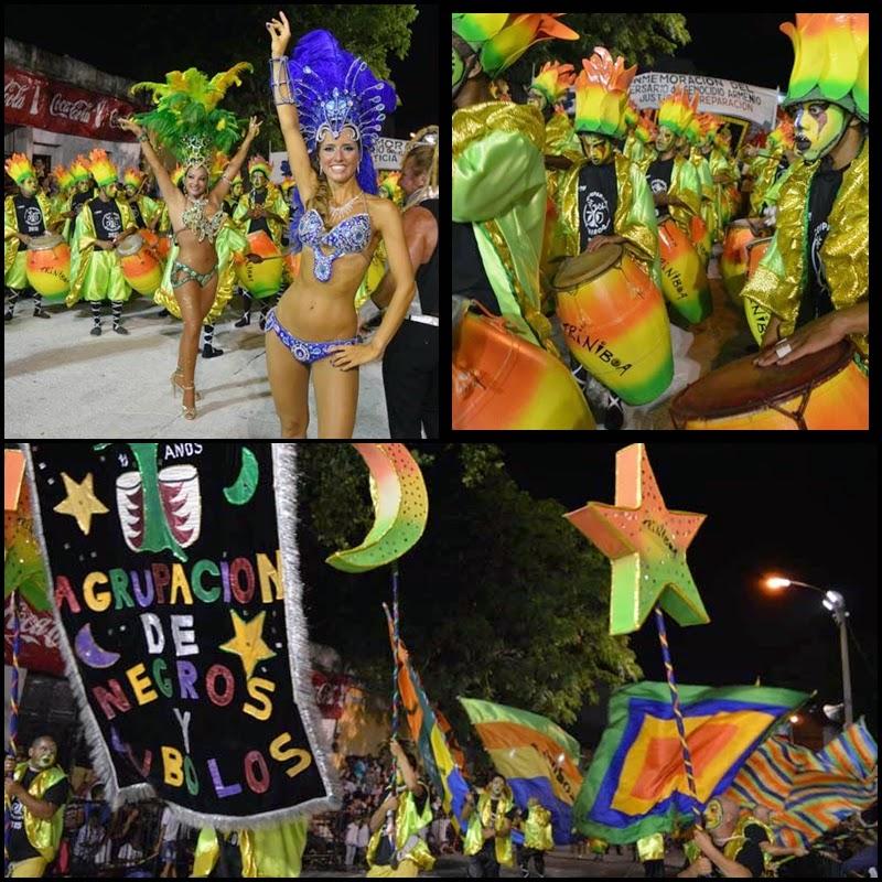 Carnaval. Desfile de Llamaadas.Triniboa.